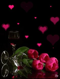Beautiful Rose Flowers, Love Flowers, Hearts And Roses, Red Roses, Rose Images, Heart Pictures, Good Morning Flowers, Glitter Graphics, Rose Wallpaper