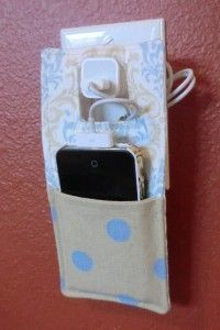 Hanging Phone Charger Free Sewing Pattern & Tutorial #PhoneCharger