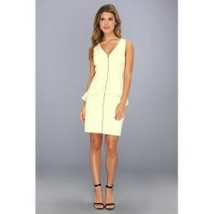 BCBGMAXAZRIA - Vic Ruffled Dress (Light Citrine) - Apparel - product - Product Review