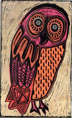 'Orange Barn Owl' by Lisa Kesler