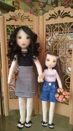 Boneca de pano negra Soraia flores ♡ lovely doll