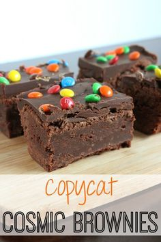 Copycat Cosmic Brownies - love those little snack brownies? Now you can make your own with this copycat recipe!