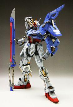 GUNDAM GUY: PG 1/60 Sword & Launcher Strike Gundam - Painted Build