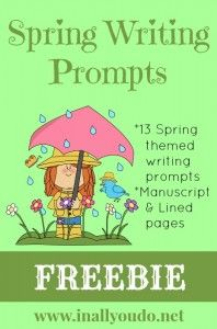 Spring Writing Prompts {freebie}