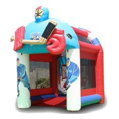 EZ Inflatables Slap Shot Inflatable Game Bounce House - G172
