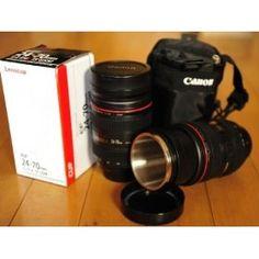 hehe a camera lens mug