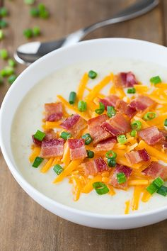 Slow Cooker Loaded Potato Soup - Cooking Classy:Really liked this. Wasn't any better than my other potato soup recipes but the slow cooker part makes it appealing for certain times. Crock Pot Soup, Slow Cooker Soup, Slow Cooker Recipes, Crockpot Recipes, Soup Recipes, Cooking Recipes, Dinner Recipes, Crock Pots, Free Recipes