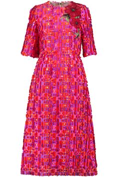 DOLCE & GABBANA EMBROIDERED FIL-COUPÉ WOVEN MIDI DRESS 1228,50£ http://www.theoutnet.com/product/949605