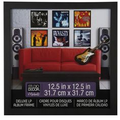 <div><div>Showcase your favorite album cover as art. This deluxe wood frame is the perfect size ...