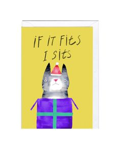 If it fits cat Christmas Card  Designed by Jolly Awesome