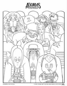 The Addams Family Movie Night and Printables – Family Movies Miracle Animation Process, First Animation, Family Coloring Pages, Coloring For Kids, Family Movie Night, Family Movies, Family Tv Series, Sashay Yarn, Gomez And Morticia