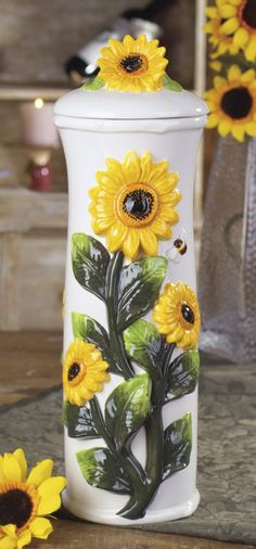 Sunflower Horizontal Floral Swag Decoration. Above largest window ...