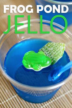 Frog Pond Jello & 10 other kid-friendly Jello recipes via www.seevanessacraft.com