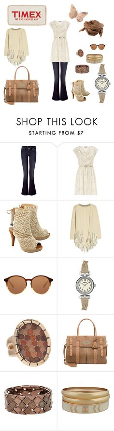 """Easy Spring Style with Timex"" by cayla-dy ❤ liked on Polyvore featuring 7 For All Mankind, Timex, Dorothy Perkins, Valerie Perrini, Vanessa Bruno, Bruuns Bazaar, The Row, Waxing Poetic, Mulberry and FOSSIL"