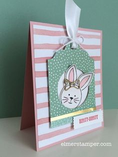 Adorable Easter card made with the Friends & Flowers stamp set from #stampinup by Kristin Kortonick