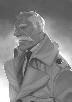Grey doodle by Nesskain