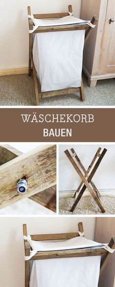 DIY-Anleitung: Wäschekorb selberbauen, rustikale Wohndeko / diy furniture: how to build a laundry basket via DaWanda.com