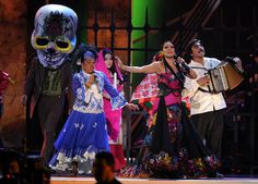 Toto La Momposina, Lila Downs, and Celso Pina perform onstage during the XIII Annual Latin GRAMMY Awards