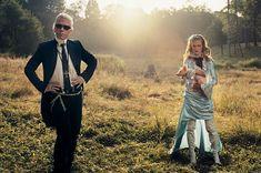 Karl Lagerfeld & Natalia Vodianova by Annie Leibovitz