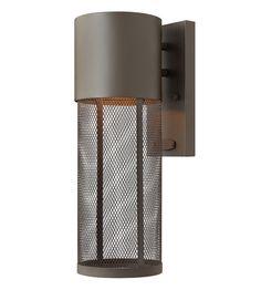Commercial outdoor lighting makes a grand entrance ssar hinkley lighting aria 1 light outdoor wall lantern in buckeye bronze 2300kz led aloadofball Images