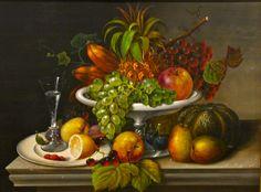American Still Life with Fruit John Edward Hollen American, 1814-1881 1860 Oil on canvas