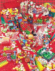 Christmas Candies ~ 500 Piece Jigsaw Puzzle