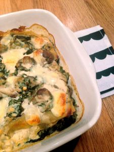 Three Cheese Spinach and Mushroom Lasagne www.theglasgowscullery.com