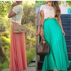 Por fin compré mi falda, es justo como la coral ... Hora de inventar combinaciones, se aceptan ideas y consejos