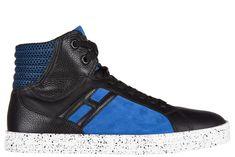 HOGAN REBEL MEN'S SHOES HIGH TOP SUEDE TRAINERS SNEAKERS R141 BASKET. #hoganrebel #shoes #