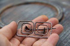Ancient Greek motif shawl pin scarf pin sweater by Keepandcherish