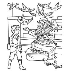 25 Best mary poppins images   Coloring pages, Colouring pages ...