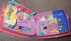 Blue Bird Polly Pocket Compact Doll House 1994 England | eBay