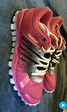 4473c890cd9 REEBOK Fit Frame 3D Fuse Fit Frame Womens 6 Pink Training Sneakers Shoes  EUC  fashion