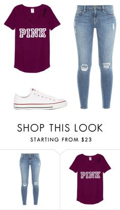 """""""Untitled #37"""" by ariana556 ❤ liked on Polyvore featuring Frame Denim and Converse"""