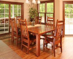 Walnut Dining Table #naturalwalnut #solidwood #beautiful