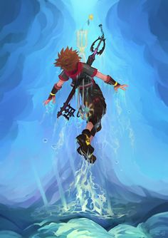 """""""The one who casted the shadows, and the one who rejected the light. Kingdom Hearts Wallpaper, Kingdom Hearts Fanart, Sora Kingdom Hearts, Cry Anime, Anime Art, Shattered Heart, Silver The Hedgehog, Girls Anime, Video Game Art"""