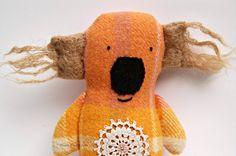 Koala Soft Toy - Handmade Softie - Wool - Upcycled - Plushie - OOAK