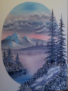love it bob ross - definitely Bob Ross style of painting - web source - MReno