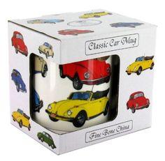 VW Beetle Volkswagen Beetle Classic Car Mug - Fine Bone China Mug (G149): Amazon.co.uk: Kitchen & Home