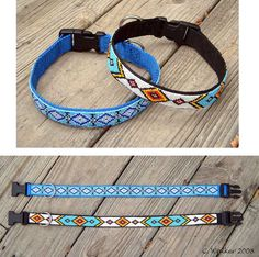 Hand Beaded Dog Collar Custom Order Choose your by beadedsaddle, $100.00