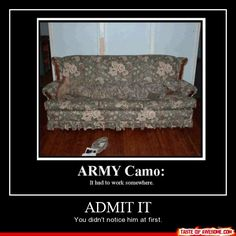 Army Camo: It has to work somewhere!