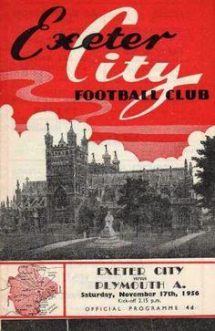 Vintage Exeter City v Plymouth Argyle programme.