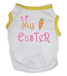 Petitebella Puppy Clothes Dog Dress My Easter Yellow White Cotton TShirt  Medium -- More info 37013bbfd