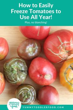 Learn this easy method for how to freeze tomatoes to ensure that a surplus never goes to waste—and find easy ways to use them up whenever you have time down the road. Plus, no blanching! Freezing tomatoes can keep food waste down and let you enjoy fresh tomatoes all year long! Freezing Tomatoes, Canning Tomatoes, Toddler Meals, Kids Meals, Toddler Food, Hidden Veggies, Food Waste, Picky Eaters, Veggie Recipes