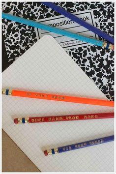 Stamped Pencils