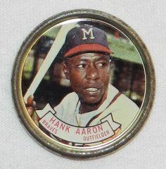 1963 Topps Baseball Coin - #83 - Hank Aaron  Milwaukee Braves  $19.99 Free Shipping