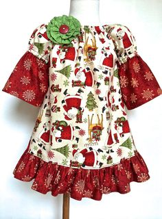 Girls Christmas Dress Toddlers Christmas Dress by 8thDayStudio $48+ Click to buy now!