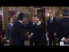 Encuentro de SS.MM. los Reyes con Marcelo Rebelo de Sousa en su primera visita oficial a España - YouTube - 17.03.2016