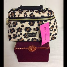 Betsy Johnson Makeup Bag/Case Leopard Print.  NWT This very pretty Betsy Johnson   Leopard print make up case is  NEW WITH TAGS... Sorry no trades.... Betsey Johnson Bags Cosmetic Bags & Cases