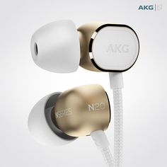 Products we like / headphones / In ear / Fashion Like / Metalic / White / at AKG N20 / In-Ear Headphones on Behance